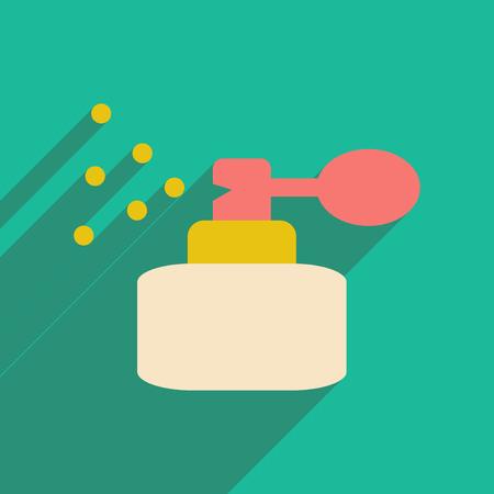 Plano con icono de sombra y perfume de aplicación móvil Ilustración de vector