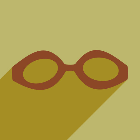 unoccupied: Flat icon with long shadow swimming goggles