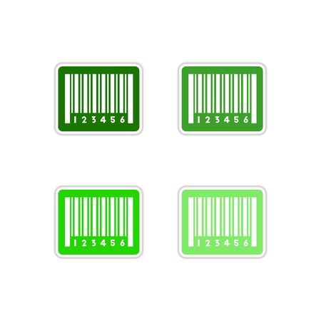 Set of bar code paper stickers Illustration