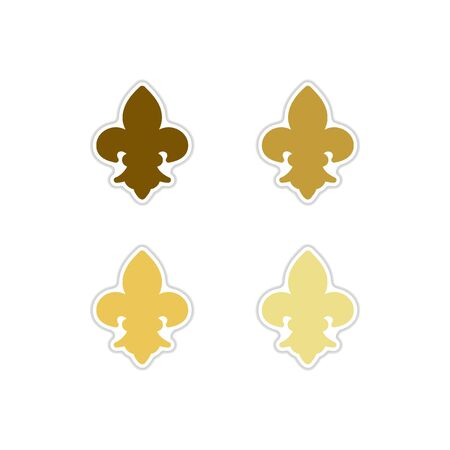 Set of  French symbol paper stickers