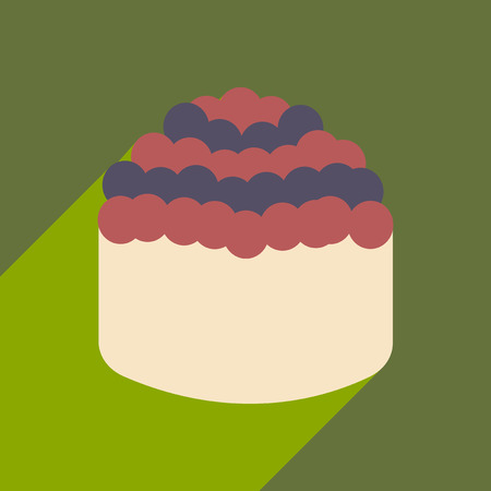 japanese cuisine: Flat with shadow icon and mobile application sushi