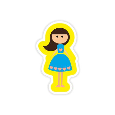 paper sticker on white background friend bride