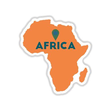 Paper sticker Africa map Illusztráció
