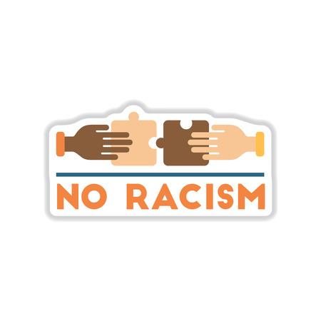 Paper sticker no racism