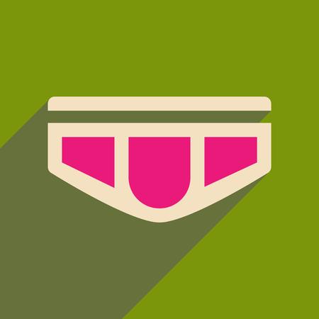 Icône plate avec une ombre portée de sous-vêtements pour hommes sur fond vert. Banque d'images - 88961189