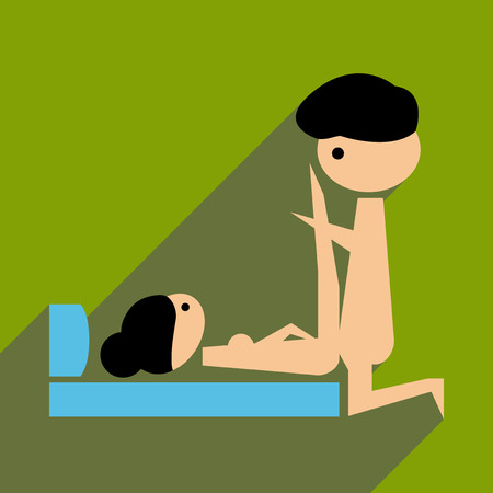 Flat web icon with long  shadow Kamasutra
