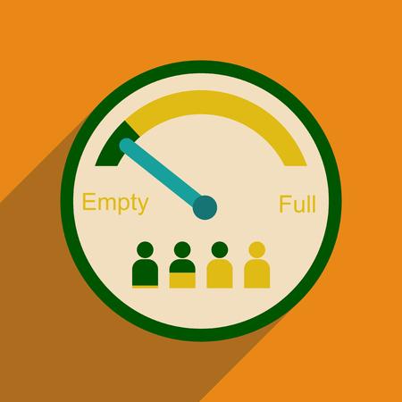 People capacity flat line icon. Illustration