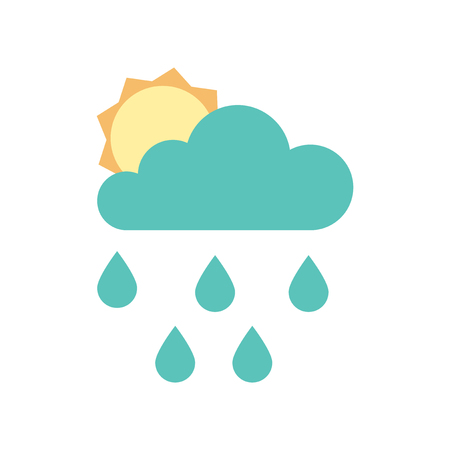 overcast: Flat web rain cloud icon.