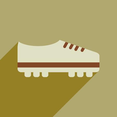 Soccer shoes flat line design icons. Illustration