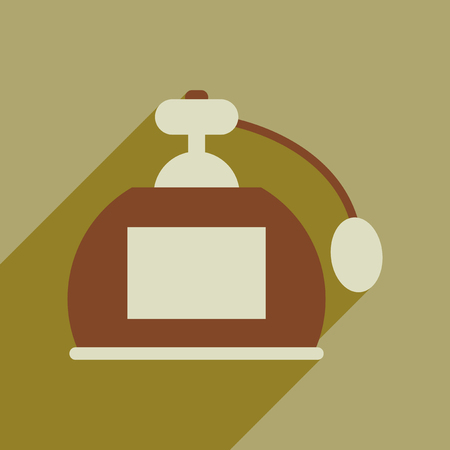 Flat web icon with long shadow of perfume. Illustration