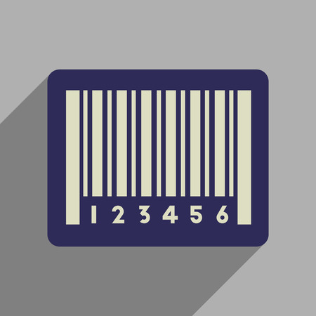 Flat web icon with long shadow bar code Illustration