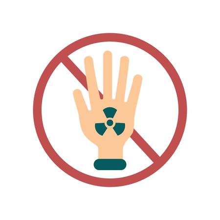 Flat web icon on white background toxic symbol