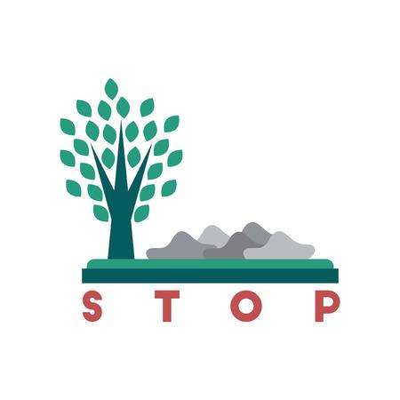 Flat web icon on white background, no environmental pollution. Illustration