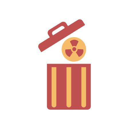 Flat web icon on white  background toxic waste