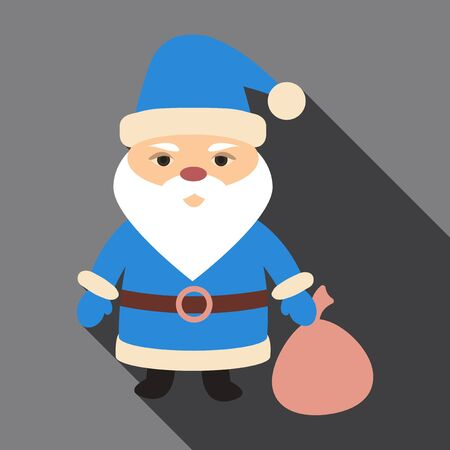 Flat icon with shadow Santa Claus Illustration
