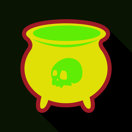 cute ghost: Witchs cauldron icon.