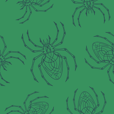 Vector spiders seamless pattern Ilustrace