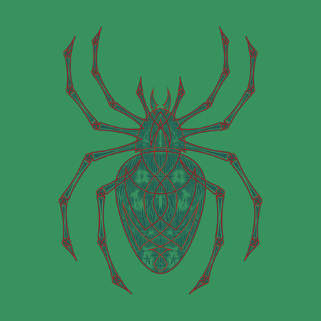 Vector spiders seamless pattern Illustration