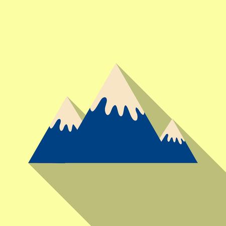 Winter mountains in snow Illustration