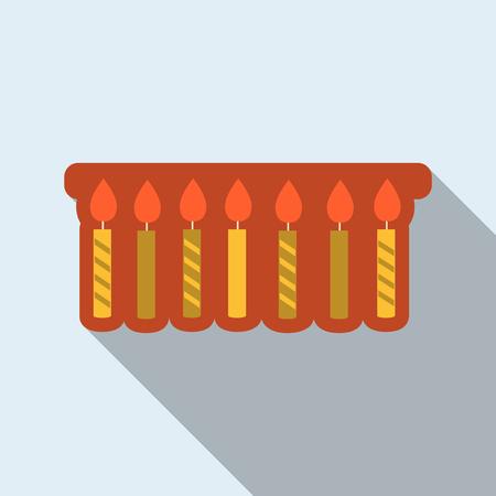 Ribbon with candles Иллюстрация