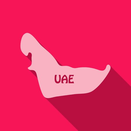 UAE map in flat style with shadow Illustration