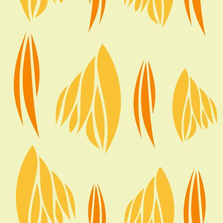 Abstract swatches memphis seamless pattern on yellow background for wall design. Illustration