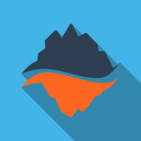 Ice berg vector icon. Iceberg vector eps clip art.
