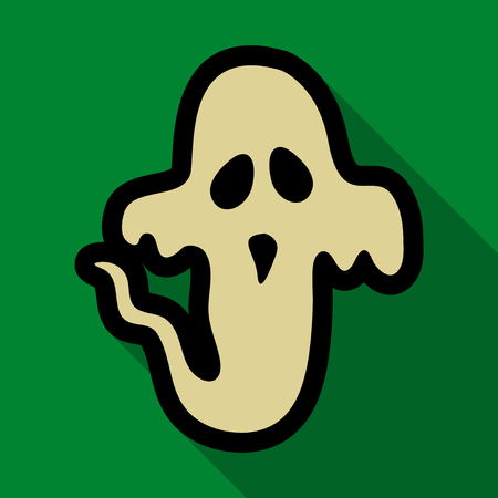 Flat icon with shadow ghost