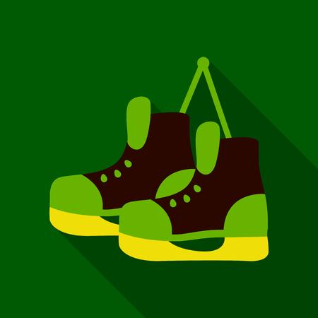 Flat Icon with shadow skates
