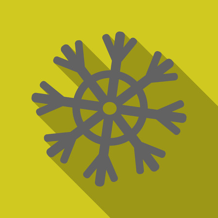 Snowflake Icon. Snowflake vector. . Winter snowflake. Stock Photo