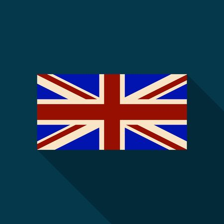 Official United Kingdom  flag with long shadow