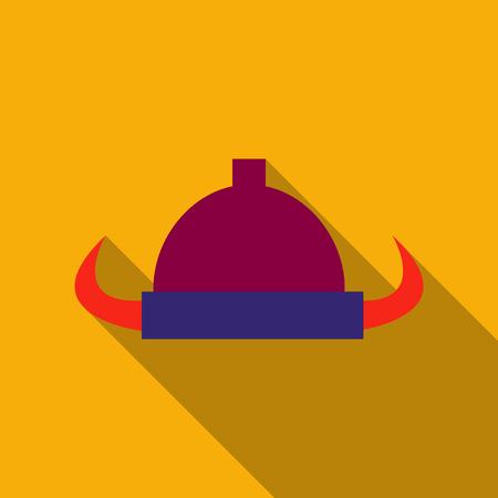 Viking helmet with horns illustration.