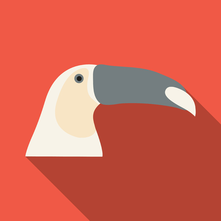 brazilian toucan bird, nature vector illustration.  イラスト・ベクター素材