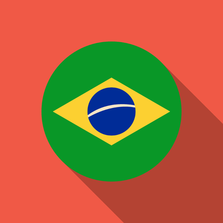 Simple flag of Brazil. Brazilian flag. Correct size, proportion, colors Illustration