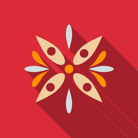 Big of beautiful colorful flowers. Vector illustration.