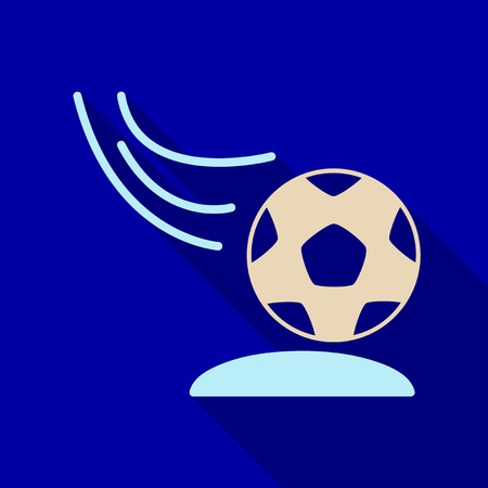Soccer ball icon. Soccer ball Vector isolated on background. Flat vector illustration. Stock Illustratie