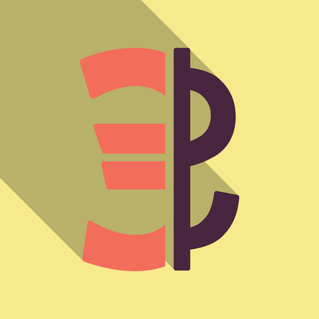 Currency vector icon. Style is a flat graphic symbol in color variants. Designed for web and mobile apps.