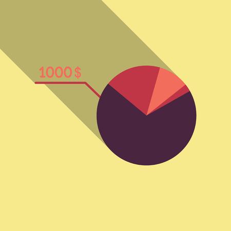 Cash flow graph. Market growth concept. Vector illustration of big stacked pile of cash. Modern currency concept profit growth. Illustration