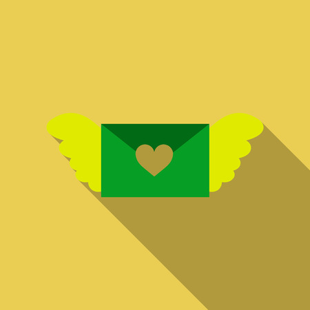 Love letter icon with hearts, vector illustration.