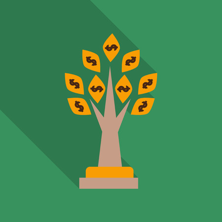 Money tree icon. Illustration
