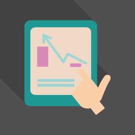 Chart information icon. Ilustrace