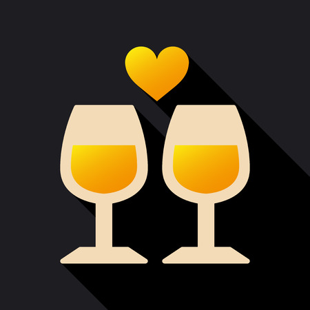 Two glasses of wine icon.