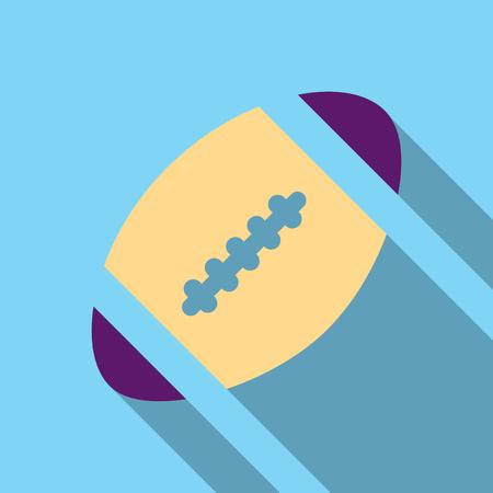 Illustration of american football ball icon. Illustration