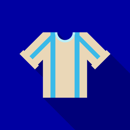 Football kit. template in flat style with shadow  イラスト・ベクター素材