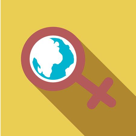 Female symbol icon design.