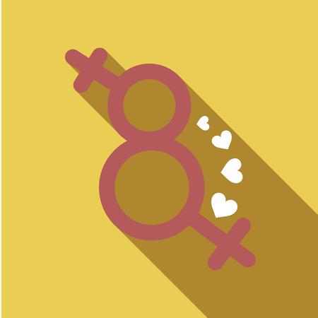 Gender symbol icon.