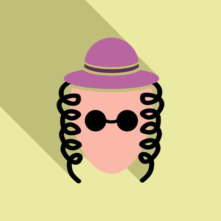 Juif avec des allures et un chapeau Banque d'images - 92424385