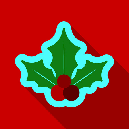 Oak leaves with acorn natural logotype isolated on background Illustration