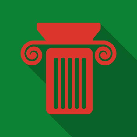 Colonne icône simple éducation vecteur école illustration signe Banque d'images - 92677354