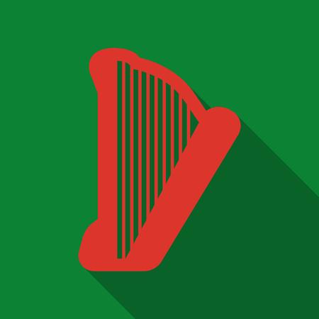 Greece lyre music theme icon vector illustration